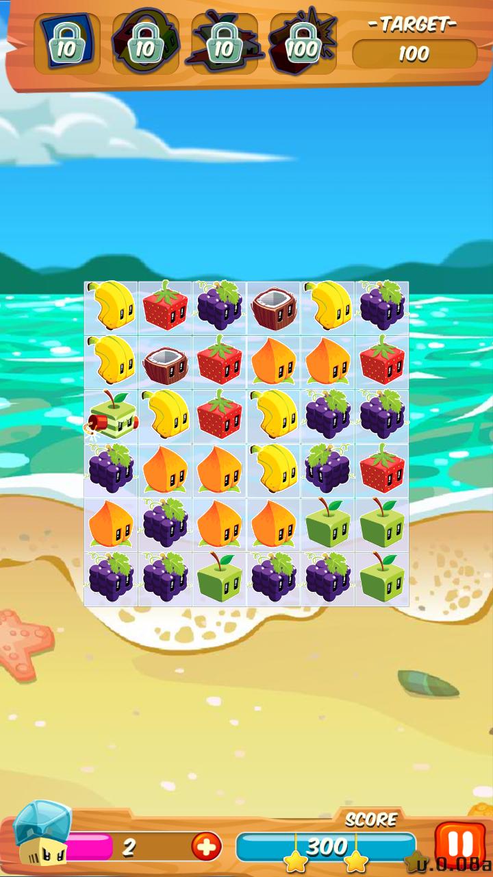 可爱的消除类游戏:果汁方块 juicecubes