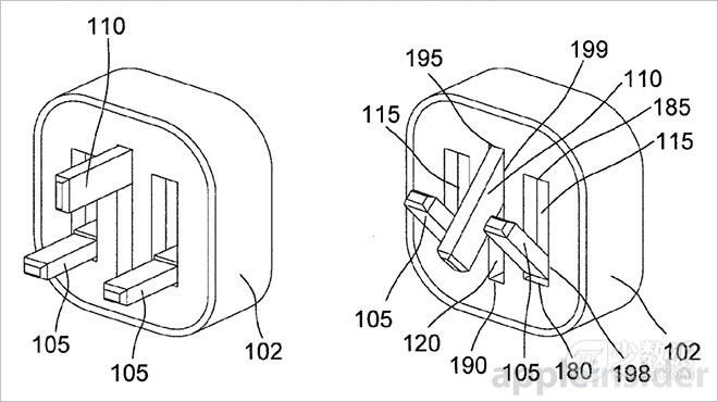 苹果获得磁力铰链结构可折叠充电插头专利