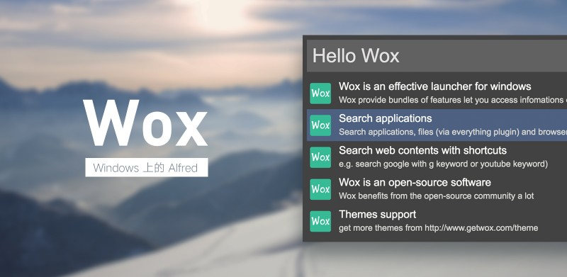 Windows 上的 Alfred,免费开源的效率启动器:Wox