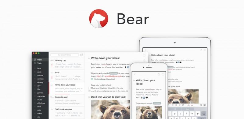笔记应用中的瑞士军刀:Bear