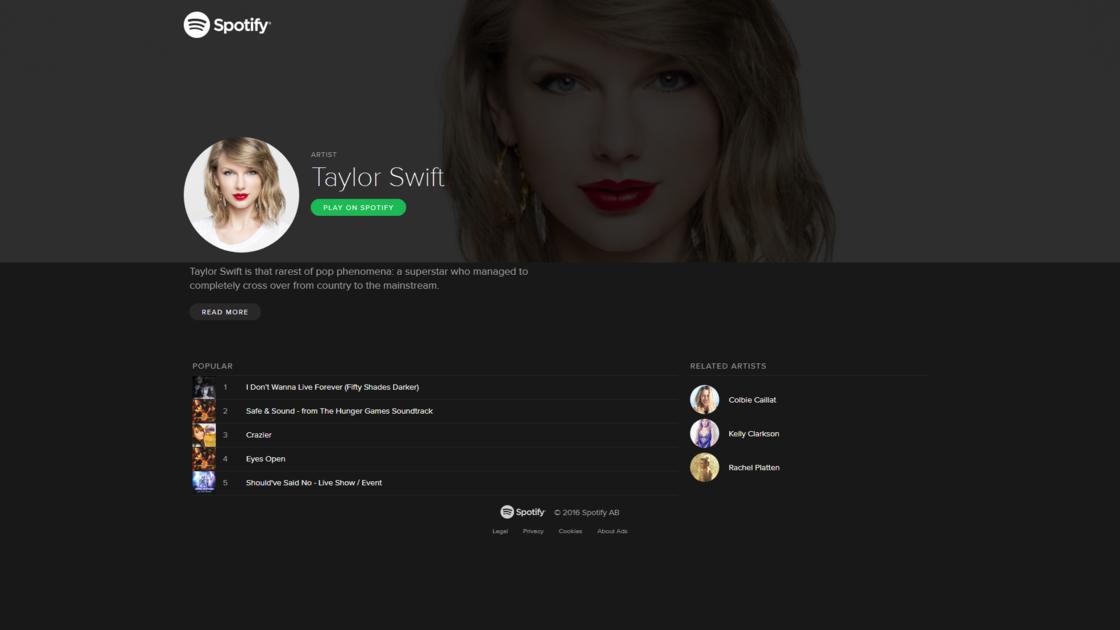 Taylor Swift 把自己所有的作品从流媒体撤下,现在只能在 Apple Music 听到了