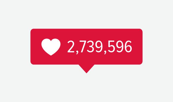 Instagram 的点赞气泡通知