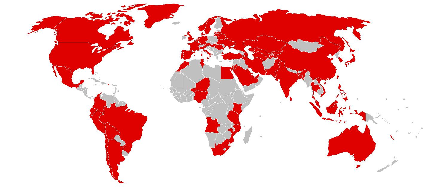 首轮受到攻击的国家及地区