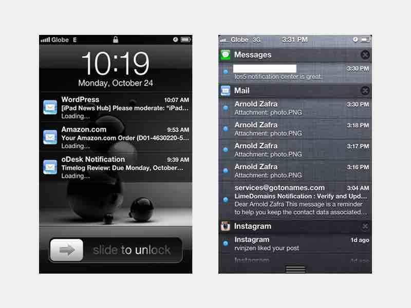 iOS 5 的通知中心