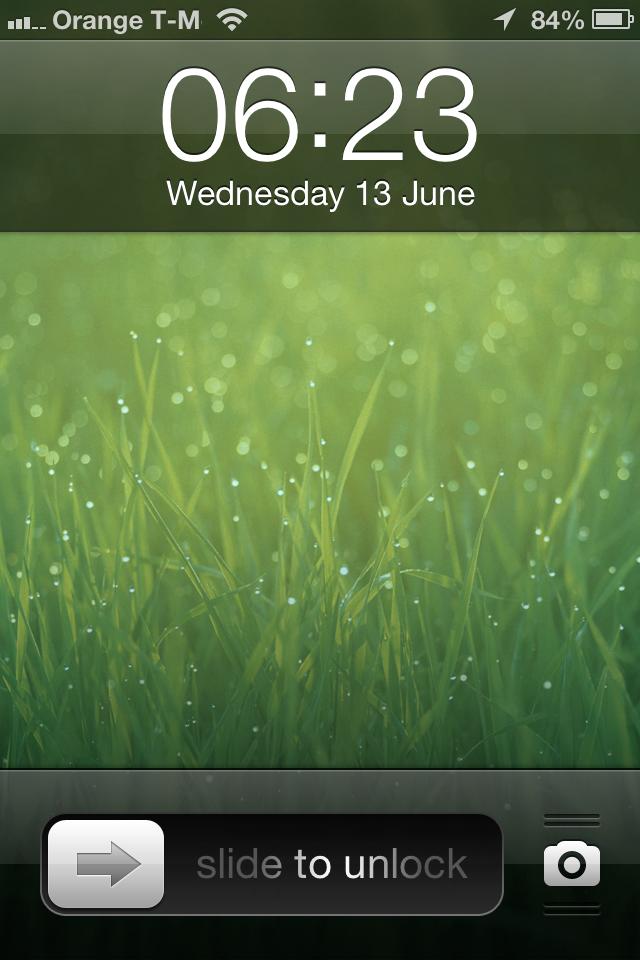 古早味的 iOS 锁屏界面