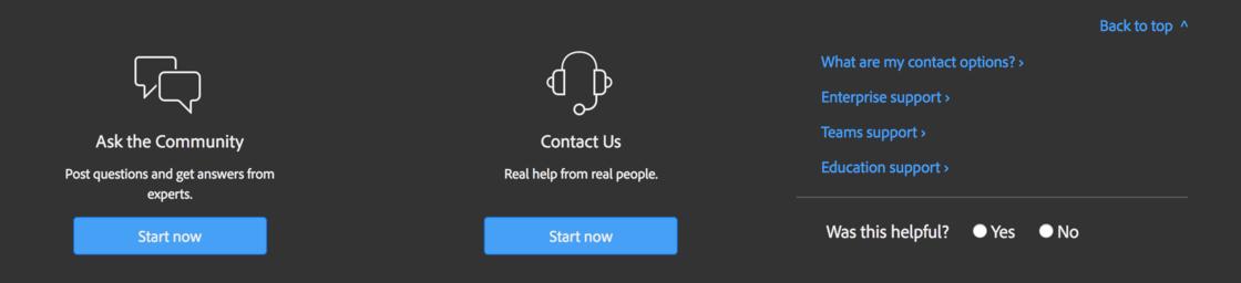 Adobe 的在线人工客服