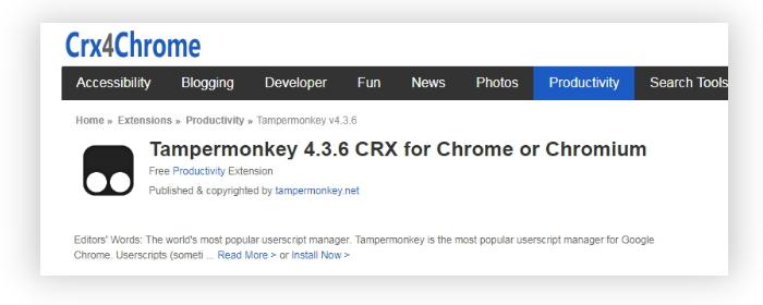 用 Chrome 的人都需要知道的「神器」扩展:「油猴」使用详解