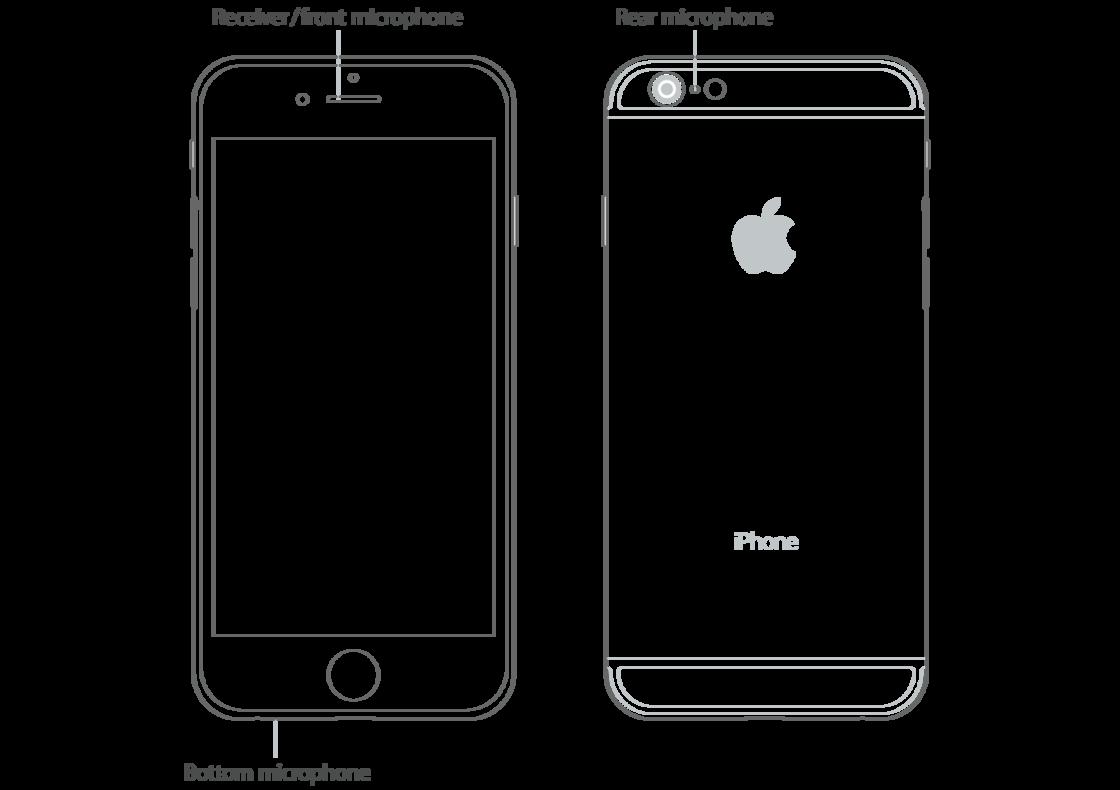 iPhone 机身上的麦克风