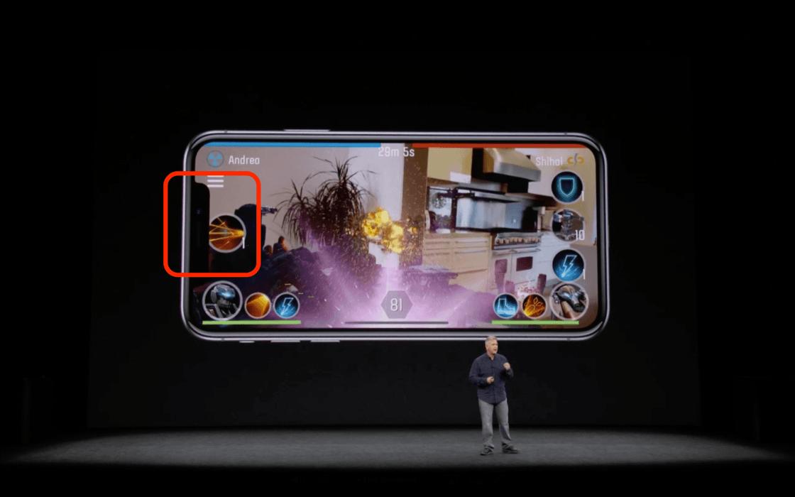 iPhone X 的刘海挡住了游戏界面中的部分按钮