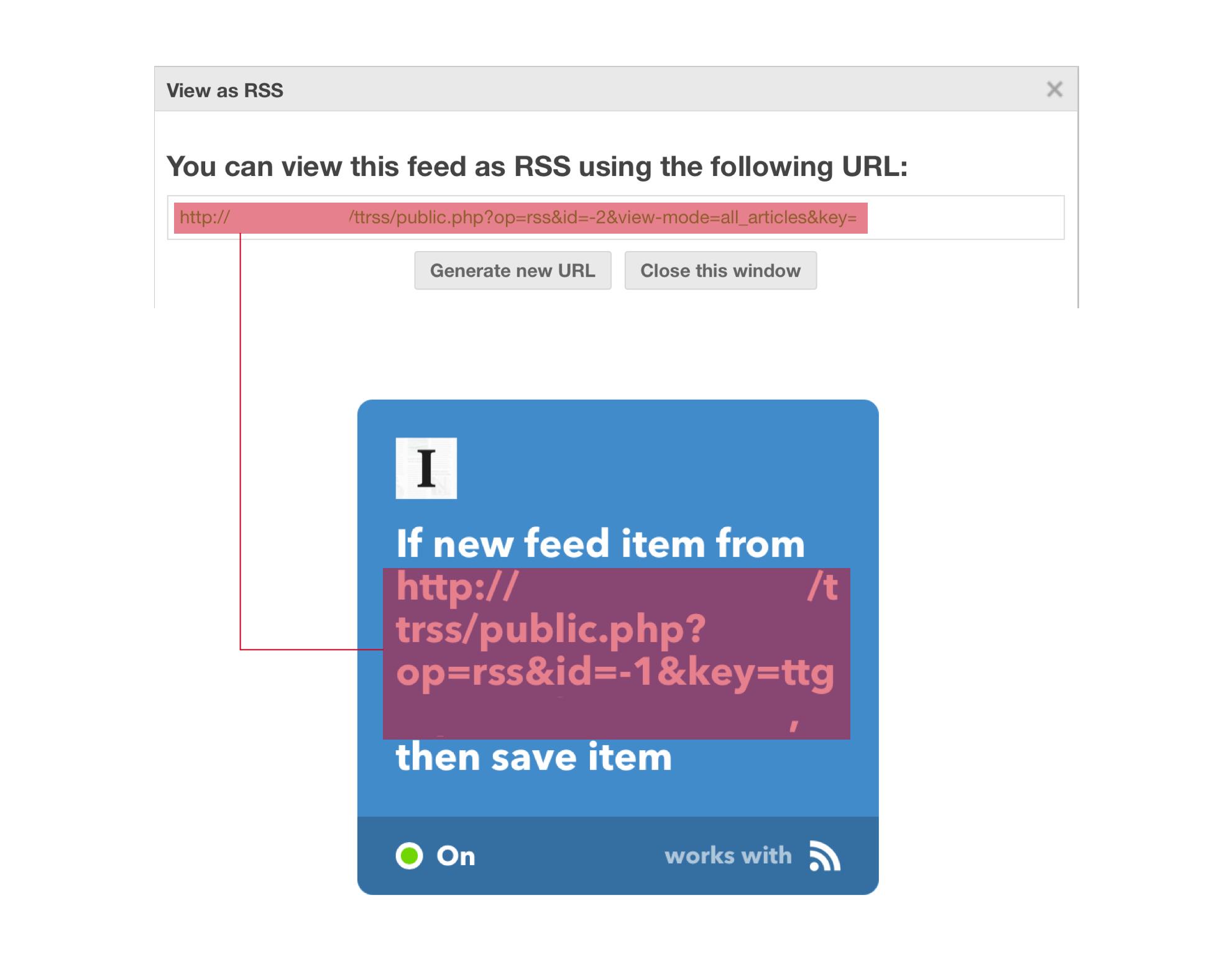 用 IFTTT 即时推送 Tiny Tiny RSS 筛选出的主题