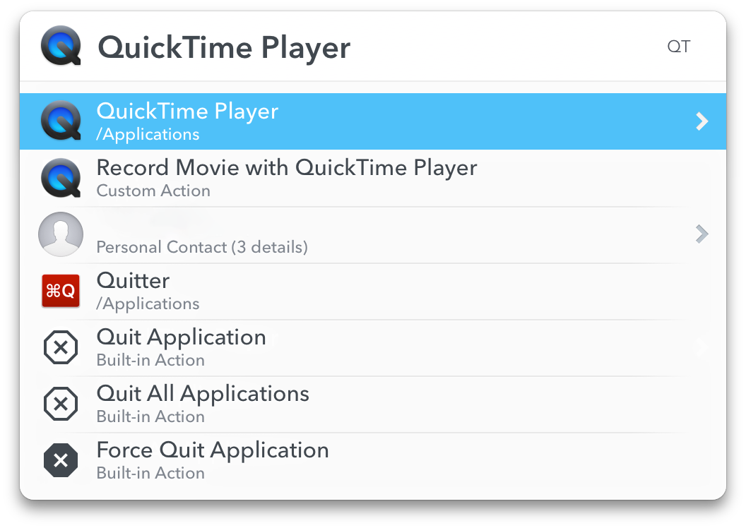 快速打开 QuickTime Player