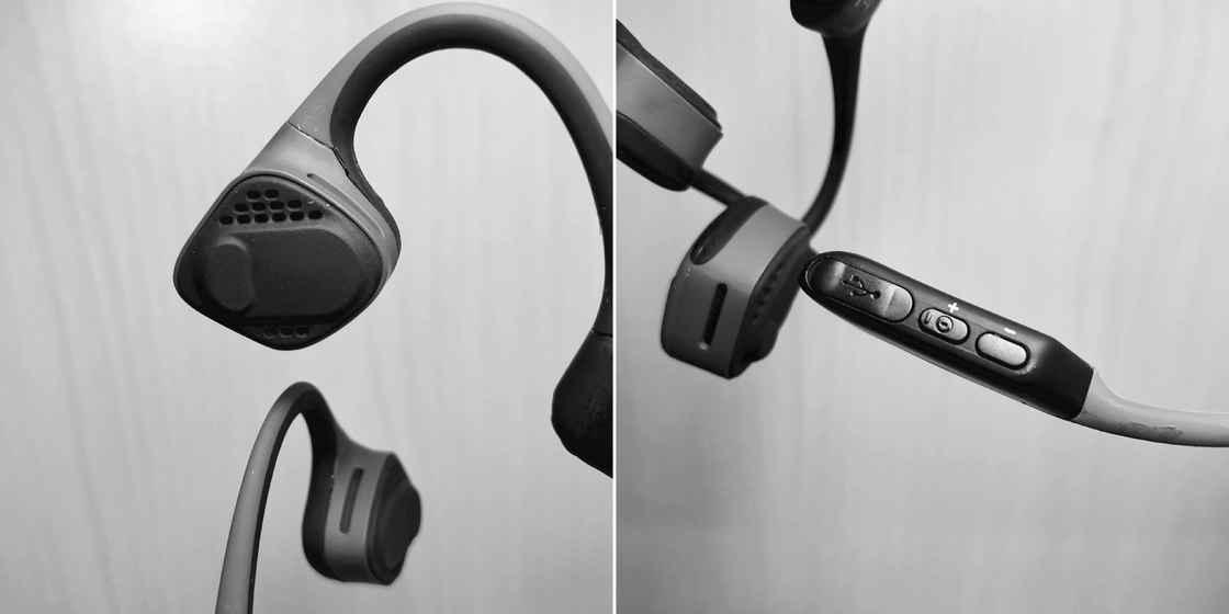 Trekz Air — 发声单元和控制按钮