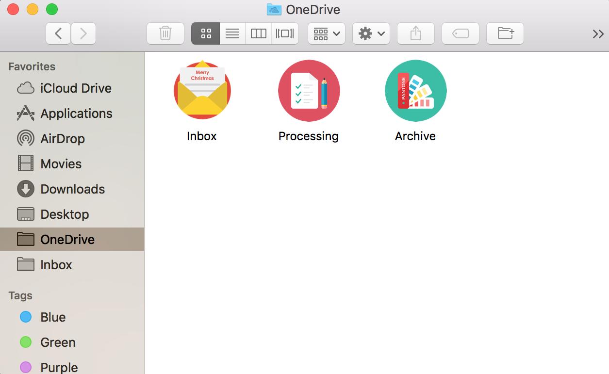 Mac 下 Onedrive 文件夹设置