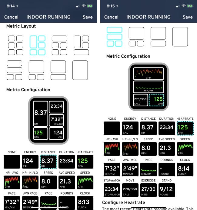 8 种模块布局;数字及图形项目