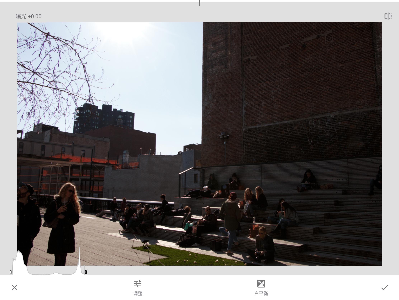 Snapseed 的「显影」界面