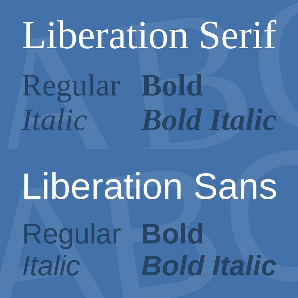 Liberation 字体家族