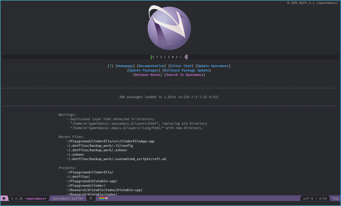 Spacemacs