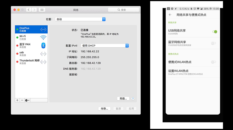 USB 网络共享
