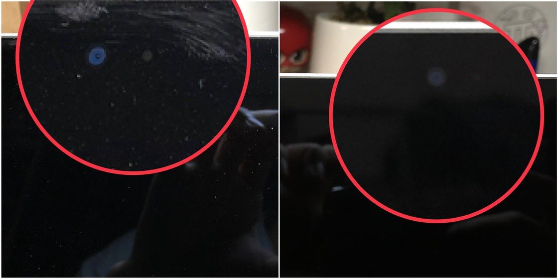 左:清洁前 右:清洁后