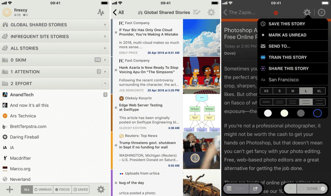 NewsBlur app