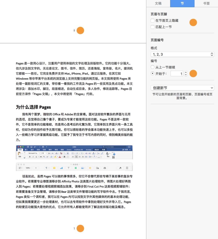 为首页和正文分别设置页码