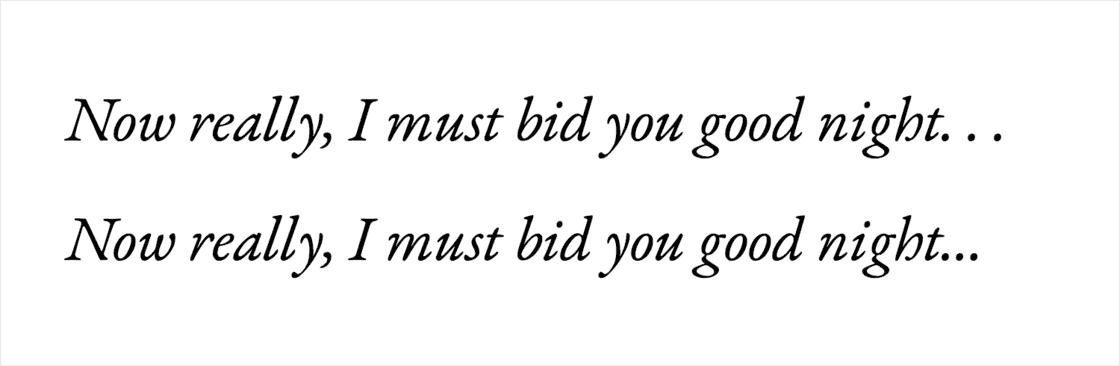 省略号的打字机式用法和规范用法