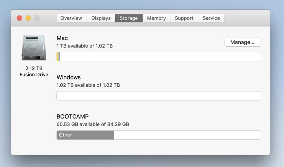 Mac 下磁盘状况