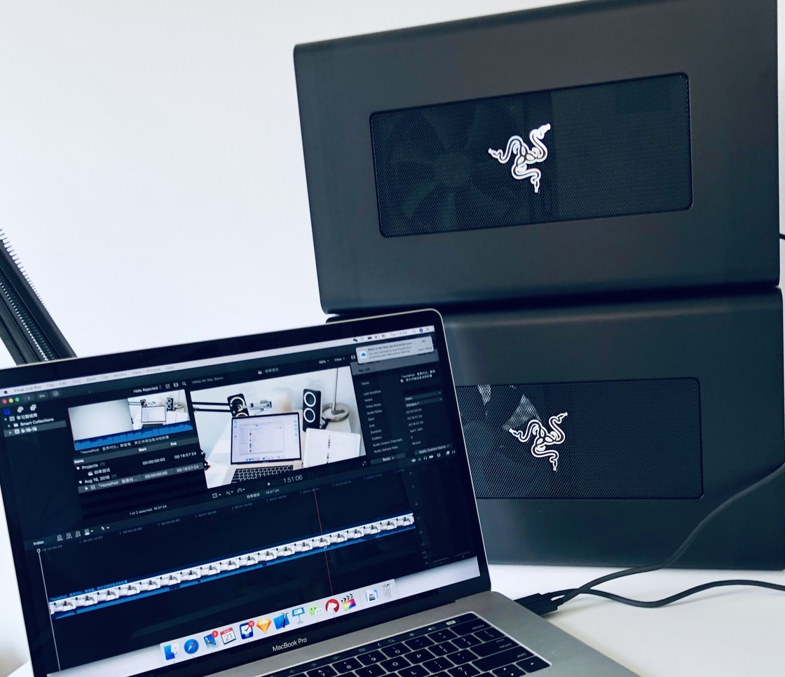 MacBook Pro 外置两台 Razer Core X