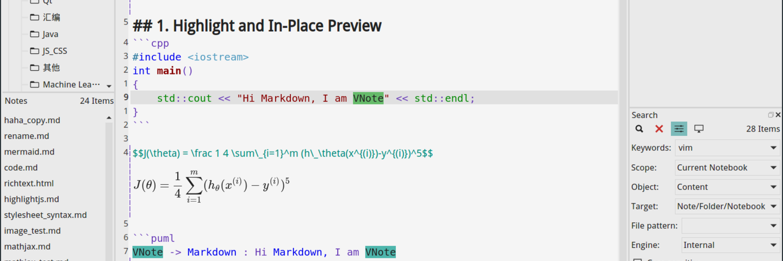 VNote更新1.22, Linux上也有美观强大的Markdown笔记工具