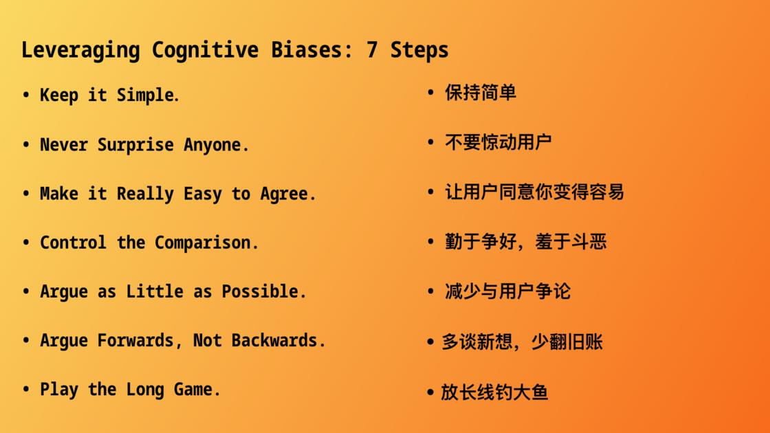 利用认知偏见的七个步骤