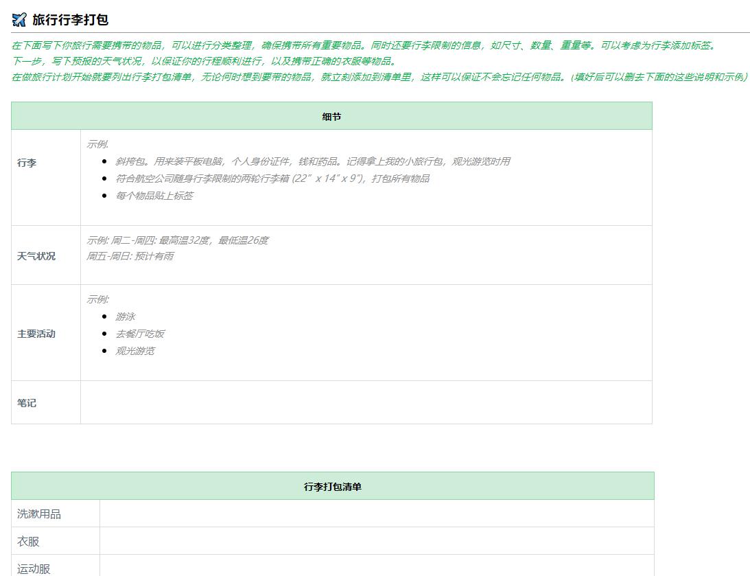 详细版旅行规划 2(by 印象笔记内测版)