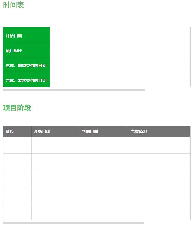 项目执行模板 2(by 印象笔记内测版)