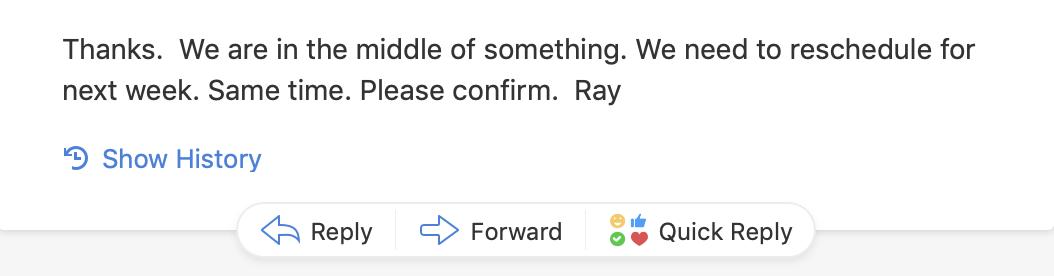 教授回我的邮件,超级简洁