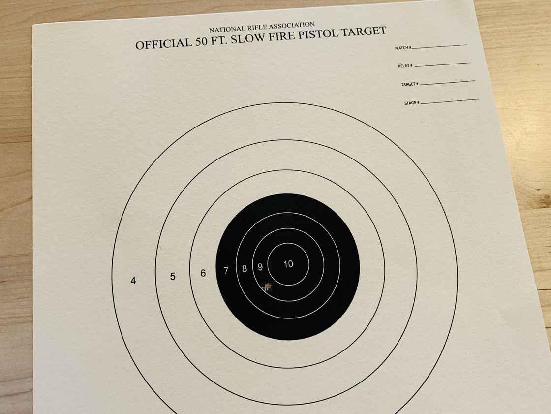 我第一次射击的靶纸