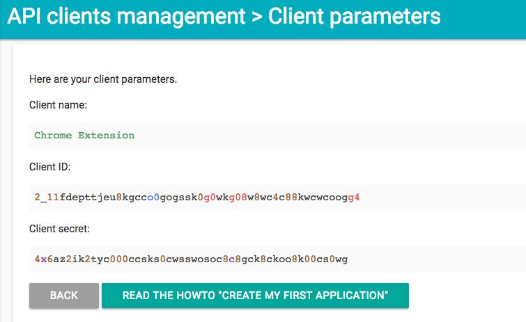 API clients management