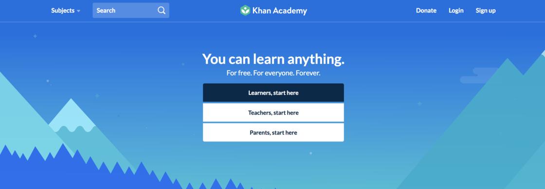 Khan Academy主頁
