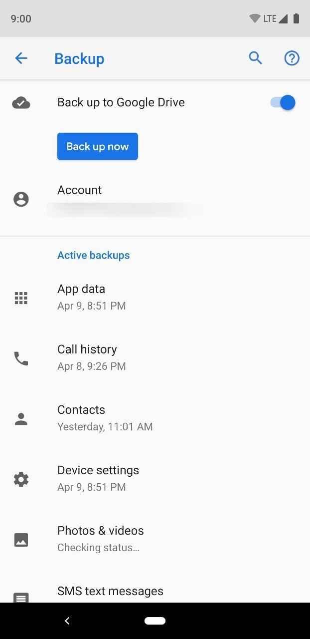 Google Drive 备份功能
