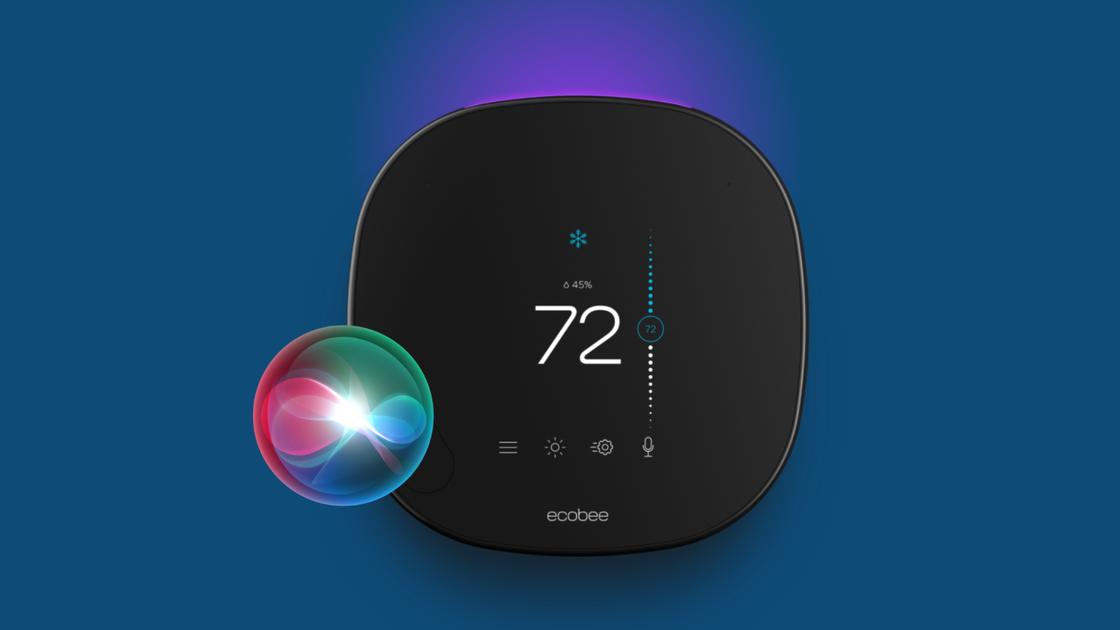 Image of ecobee and Siri.