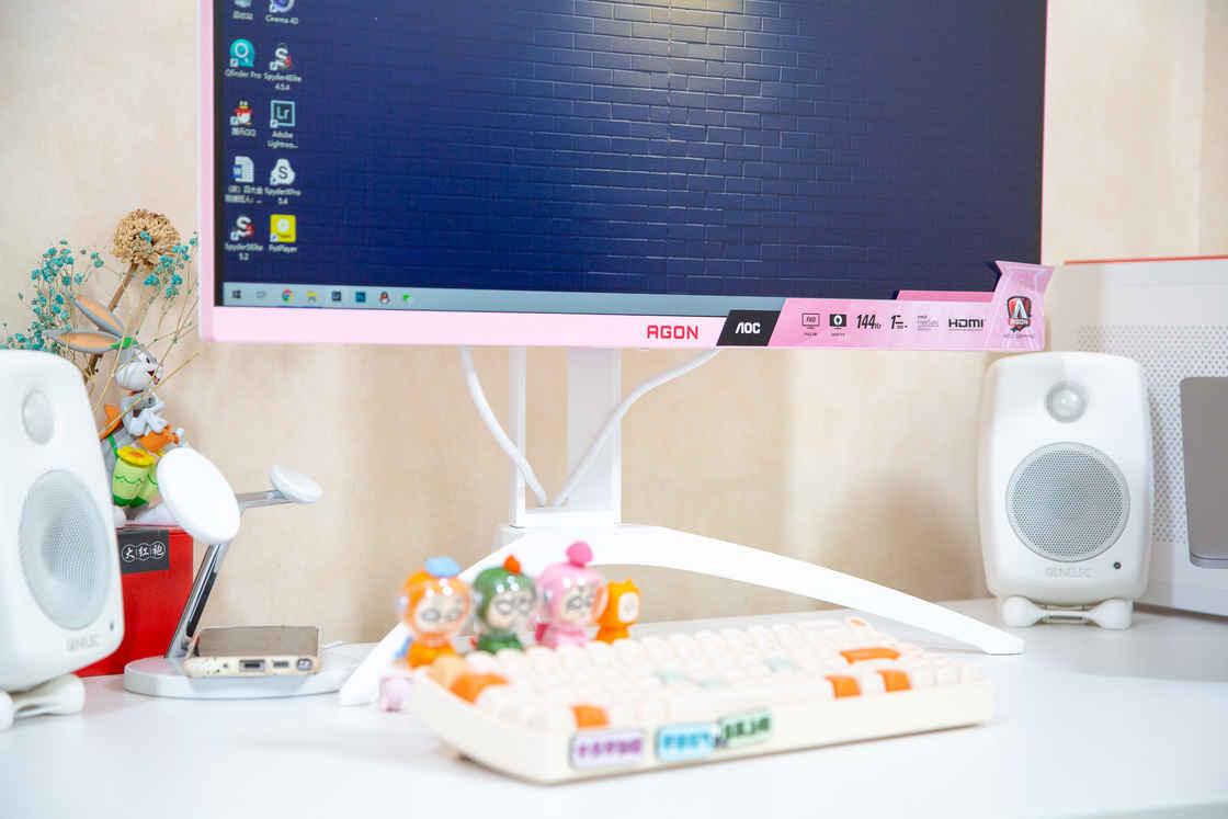 618桌面改造计划:打造温馨舒适的粉色女生桌面