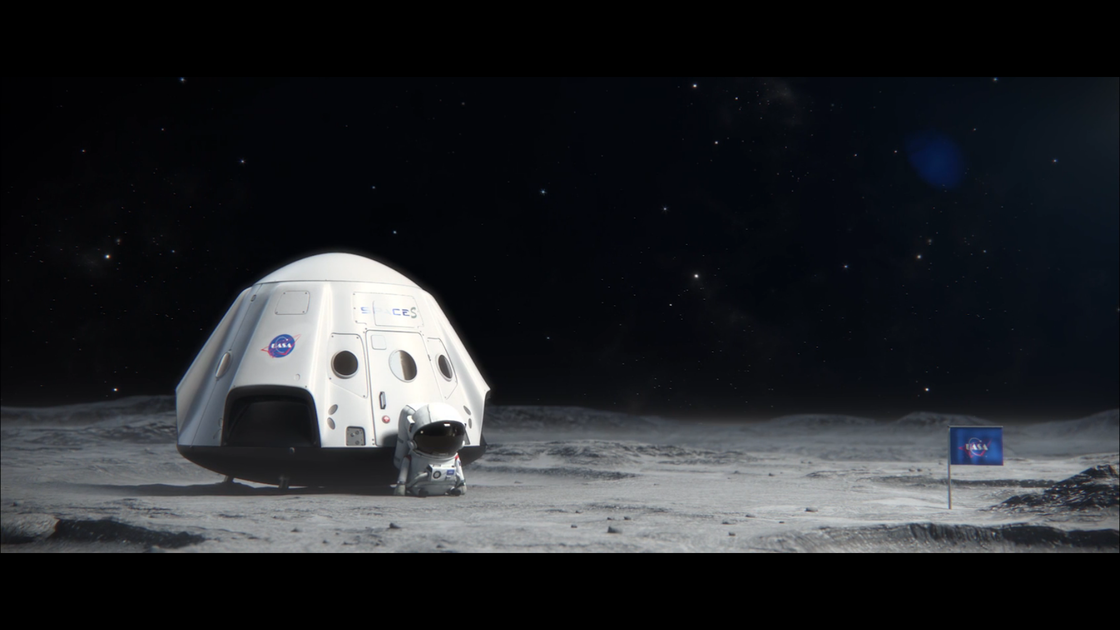 中国动画短片《着陆》,讲述一个宇航员出舱忘带钥匙的故事