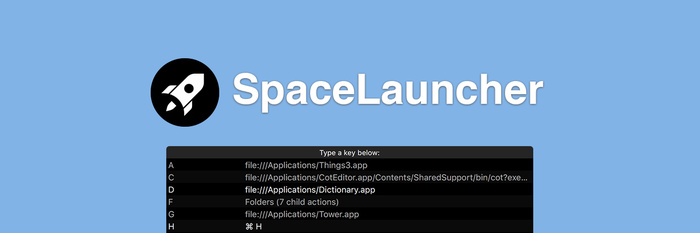 找不到用起来顺手的 Mac 快捷键工具,于是我自己开发了一个:SpaceLauncher