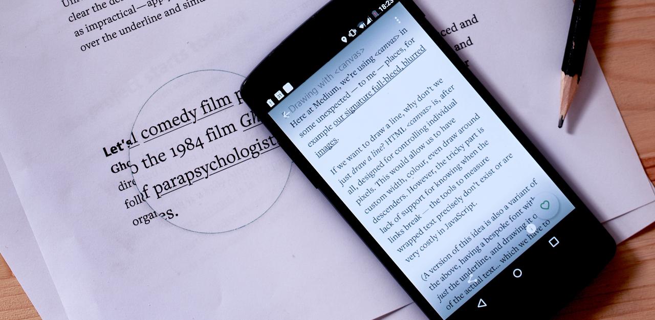 在手机上体验极致排版,先锋写作平台:Medium