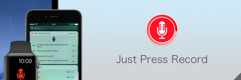 Just Press Record,Apple Watch 上最省心的录音应用 | App+1