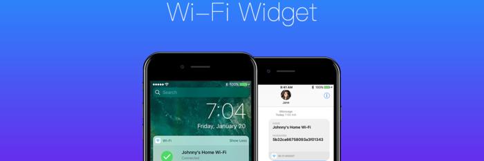 Wi-Fi Widget,在通知中心快速查看并分享 WiFi丨App+1