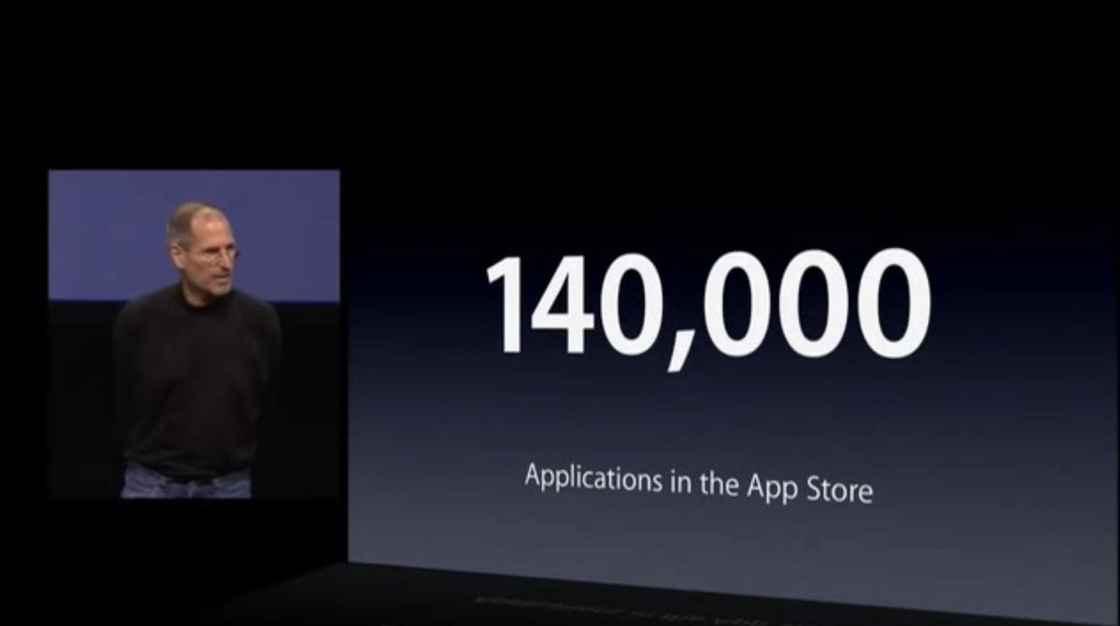 2010 年 iPad 发布会 - 应用数