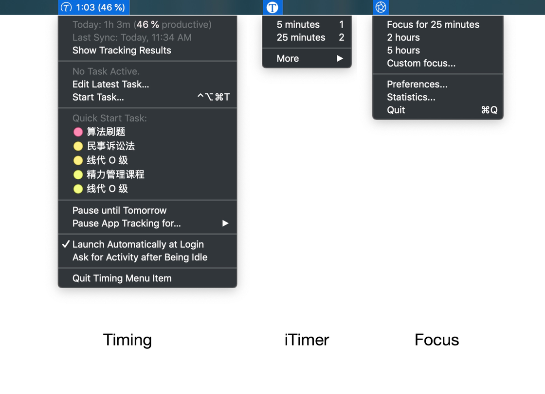 Timing+iTimer+Focus ite