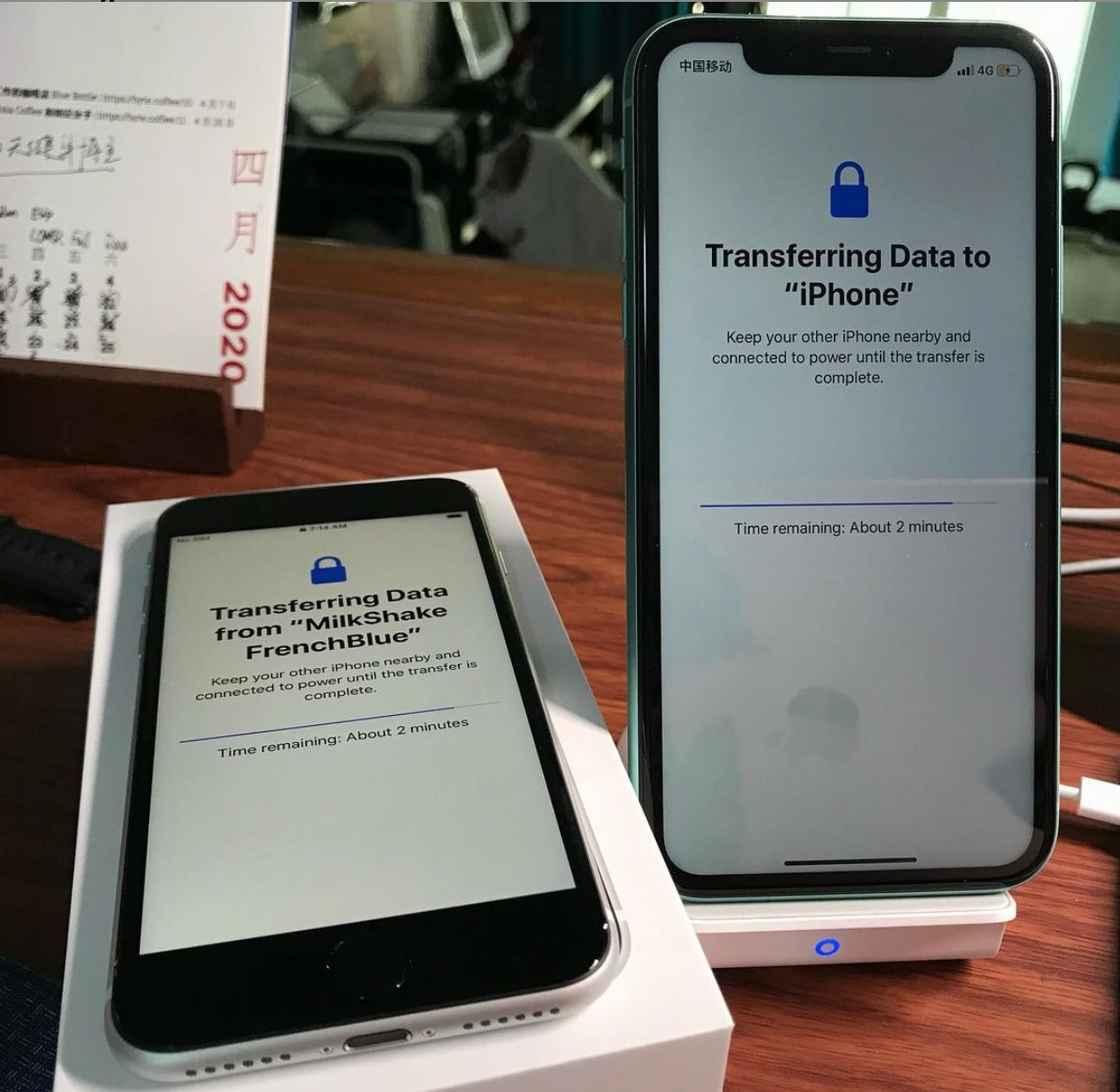 iPhone 11 传输数据给 iPhone SE 2