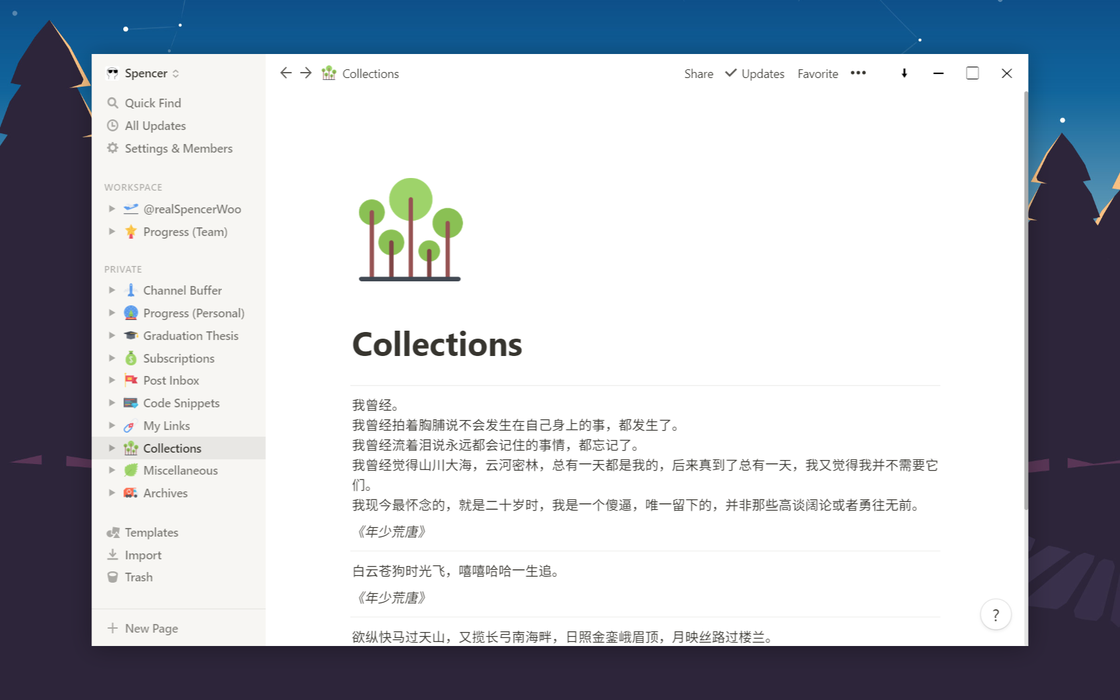 魔改之后的 Notion Windows 客户端