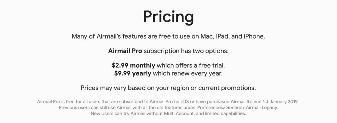 Airmail 定价规则