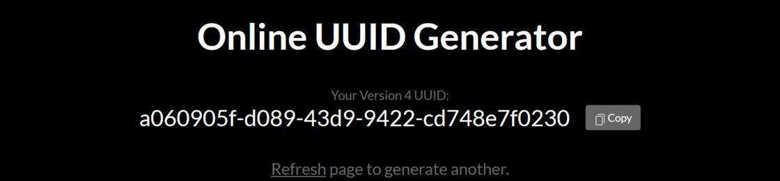 生成 UUID